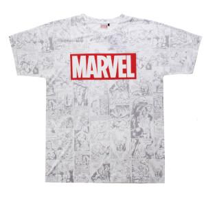Marvel Men's Champions Sub T-Shirt - White
