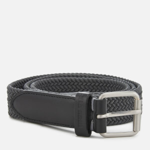 Ben Sherman Men's Barbican Plaited Belt - Grey