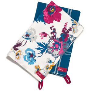 Joules Tea Towel Pack - Cream Poppy Posy
