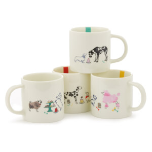 Joules 4 Pack of Mugs - Par-Tea Dogs