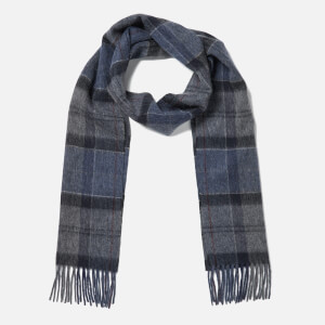 Barbour Women's Tartan Scarf - Navy/Grey
