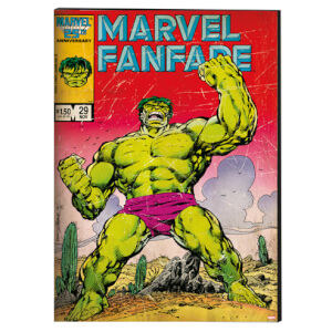 Marvel Vintage Retro Hulk Printed Canvas Wall Art