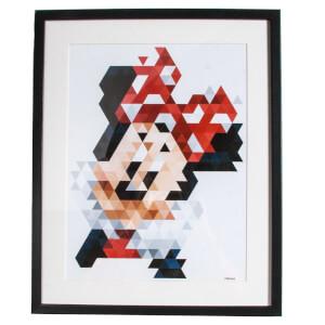 Disney Minnie Mouse Pixels Framed Printed Wall Art