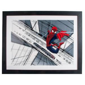 Marvel Spider-Man Sketch Gallery Framed Printed Wall Art