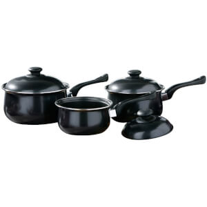 Premier Housewares 3 Piece Black Belly Pan Set