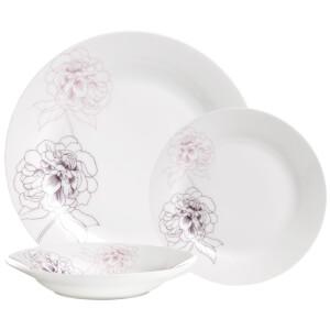 Premier Housewares 12 Piece Avie Casablanca Dinner Set - Purple Porcelain