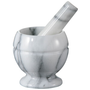 Premier Housewares Mortar and Pestle - White Marble