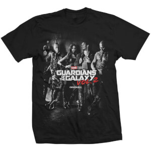 T-Shirt Homme Marvel Gardiens de la Galaxy Vol.2 Group - Noir