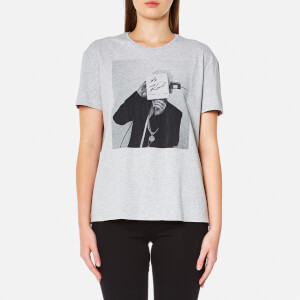 Karl Lagerfeld Women's Karl Polaroid Signature T-Shirt - Grey Melange