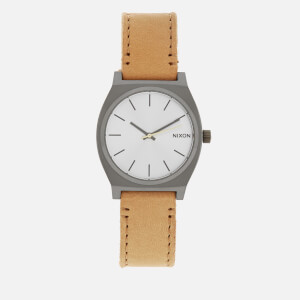 Nixon Men's The Time Teller Watch - Gunmetal/Silver/Tan