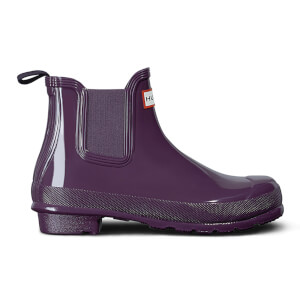 Hunter Women's Original Gloss Chelsea Boots - Purple Ocean