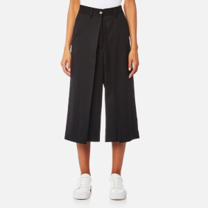 MM6 Maison Margiela Women's Short Suit Trousers with Front Pleat - Black