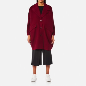 MM6 Maison Margiela Women's Felt Wool Coat - Blood