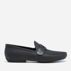 Vivienne Westwood MAN Men's Frame Orb Moccasin Shoes - Black