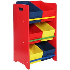 Premier Housewares 3 Tier Storage Unit with 6 Canvas Tubs