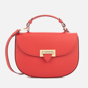 Aspinal of London Women's Letterbox Saddle Bag - Scarlet