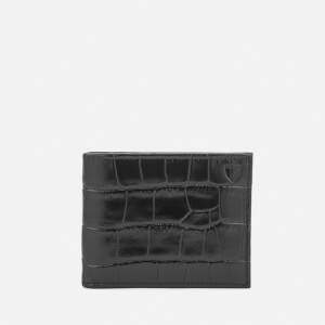 Aspinal of London Men's Billfold Wallet - Black/Cobalt