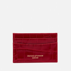 Aspinal of London Women's Slim Credit Card Case - Red