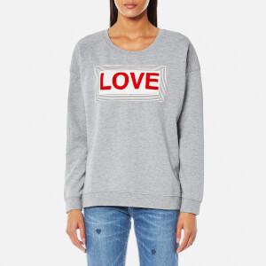 Maison Scotch Women's Love Sweatshirt - Grey Melange