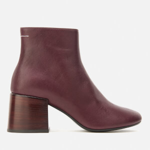 MM6 Maison Margiela Women's Heeled Ankle Boots - Bordeaux