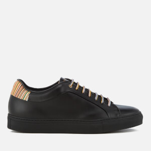 Paul Smith Men's Basso Leather Cupsole Trainers - Black/Multi Stripe