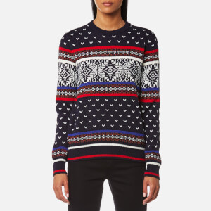MSGM Women's Fairisle Jumper - Blue