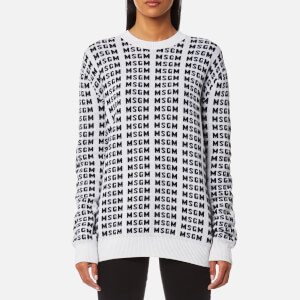 MSGM Women's Multi Logo Jumper - White