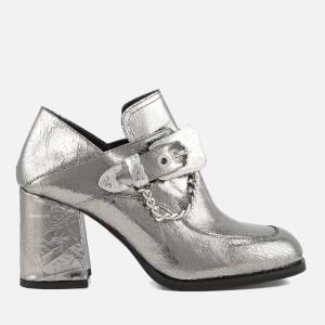 McQ Alexander McQueen Women's Leah Mocassin Heeled Shoes - Silver