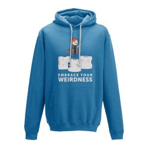 Embrace Your Weirdness Blue Hoody