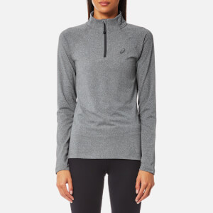 Asics Women's Long Sleeve 1/2 Zip Jersey - Dark Grey Heather