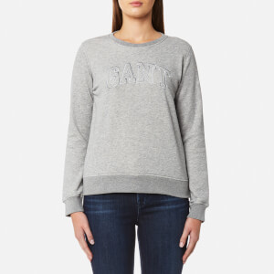 GANT Women's Crew Neck Sweatshirt - Grey Melange