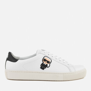 Karl Lagerfeld Women's Kupsole Leather Karl Ikonik Trainers - White