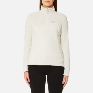 Jack Wolfskin Women's Gecko 1/4 Zip Fleece - White Sand