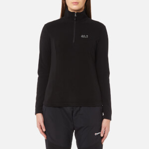 Jack Wolfskin Women's Gecko 1/4 Zip Fleece - Black