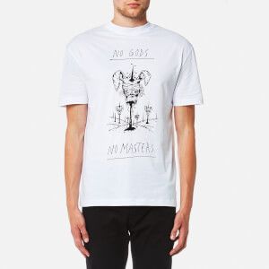 McQ Alexander McQueen Men's Dropped Shoulder No Gods No Masters T-Shirt - Optic White