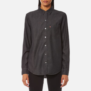Levi's Women's Sidney 1 Pocket Boyfriend Shirt - Super Dark Authentic