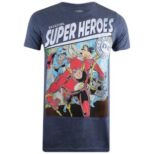 T-Shirt Homme DC Comics Justice Carré - Bleu Marine