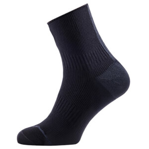 Sealskinz Road Ankle Socks with Hydrostop - Black/Anthracite