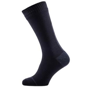 Sealskinz Road Thin Mid Socks with Hydrostop - Black/Grey
