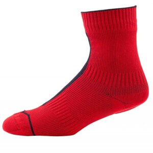 Sealskinz Road Ankle Socks with Hydrostop - Red/Black