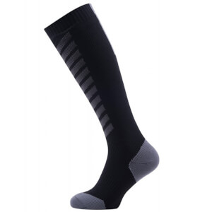 Sealskinz MTB Mid Knee Socks - Black/Anthracite