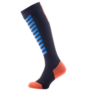 Sealskinz MTB Mid Knee Socks - Black/Blue/Orange