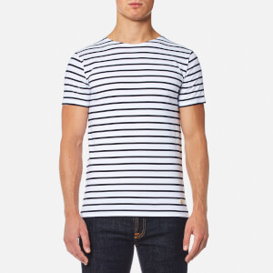 Armor Lux Men's Stripe Lightweight T-Shirt - Blanc Navire