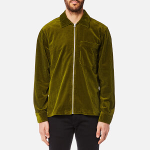 Our Legacy Men's Drip Cord Zipped Shirt - Lemongrass Cord