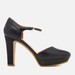 See By Chloé Women's Leather Platform Heeled Sandals - Nero