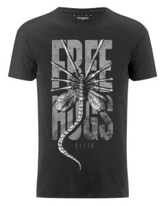 Alien Free Hugs Men's Black T-Shirt