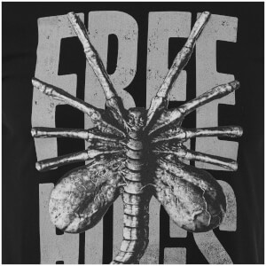 Alien Free Hugs Men's Black T-Shirt: Image 4