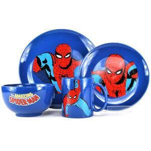 Marvel Spiderman 4 Piece Dinner Set