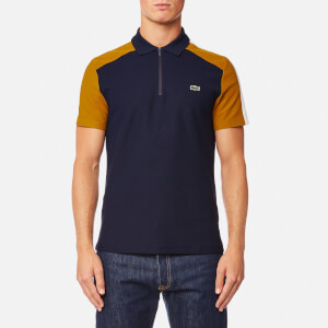 Lacoste Men's Shoulder Detail Polo Shirt - Navy Blue/Renaissance Bro