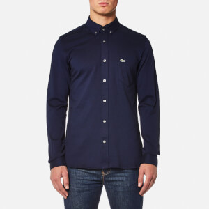 Lacoste Men's Long Sleeve Jersey Shirt - Methylene/Black